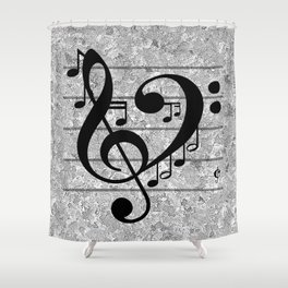 love music shower curtain - Musical Shower Curtains