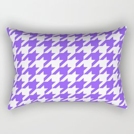 Periwinkle Houndstooth Rectangular Pillow