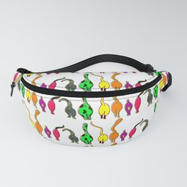 Colorful Cat Butts Pattern Fanny Pack