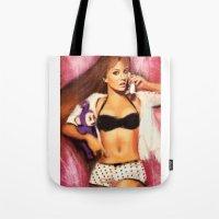 britney Tote Bags featuring Britney by ChrisHdzArt