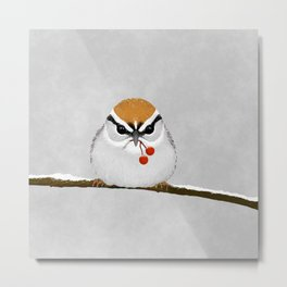 Chipping Sparrow on a Branch Metal Print