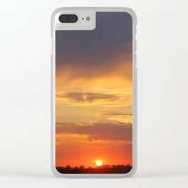 sundown sundown sunset Clear iPhone Case