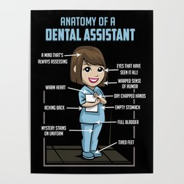 Anatomy Of A Dental Assistant Poster