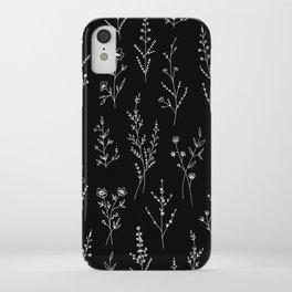 New Black Wildflowers iPhone Case