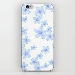 Lily (Blue) iPhone Skin