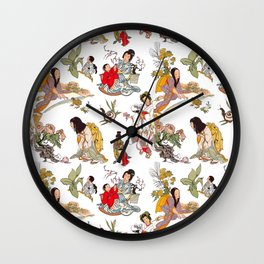 China Cabinet Toss Wall Clock