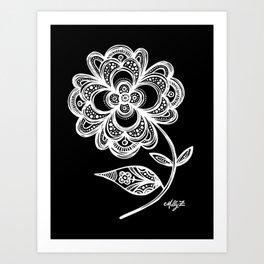 White Flower 105 Art Print