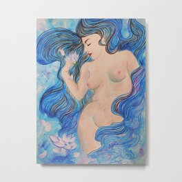 the dreaming naiad Metal Print