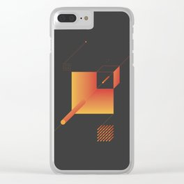 Geometric Composition 9 Clear iPhone Case