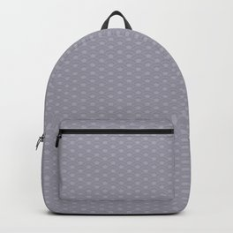Pantone Lilac Gray Double Scallop Wave Pattern Backpack