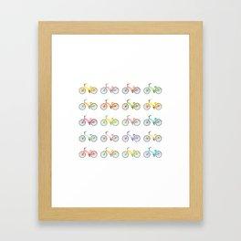 Colorful bikes Framed Art Print