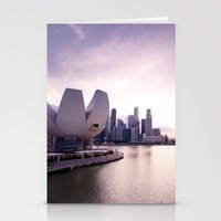 singapore Stationery Cards featuring Singapore Skyline by Krishots Photography