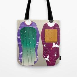 Geisha Maiko Winter Tote Bag