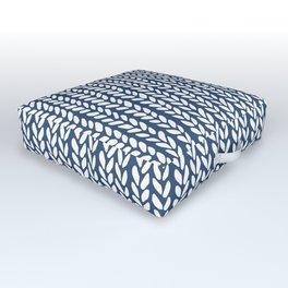 Knit Wave Navy Outdoor Floor Cushion