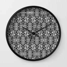 bw texture 10 Wall Clock