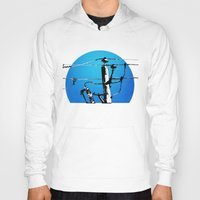 transformer Hoodies featuring Transformer Sky by Rebecca Joy - Joy Art and Design