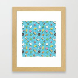 Pool floaties Framed Art Print