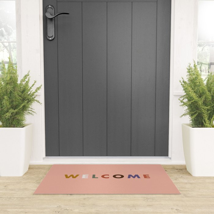 Colorful Welcome Welcome Mat