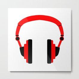 Pair Of Headphones Metal Print