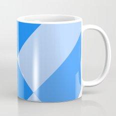 Angled Blue Mug