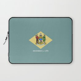 flag delaware,america,usa,Blue Hen,mid-altlantic, Delawarean,Small Wonder,Wilmington,Dover,Newak Laptop Sleeve