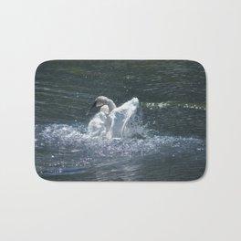 Swan's Lake - Preening Trumpeter Swan Bath Mat