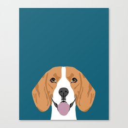 Lenon - Beagle gifts for pet owners and dog person with a beagle Canvas Print