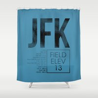 jfk Shower Curtains featuring JFK II by 08 Left