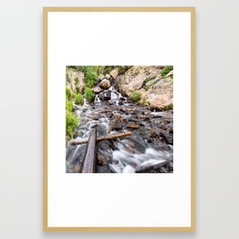 Colorado Rocky Mountain Riverscape - Square Format Framed Art Print