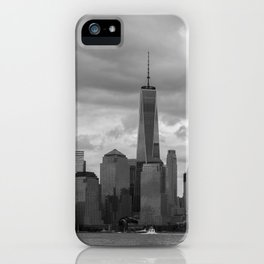 Lower Manhattan in Black and White iPhone Case