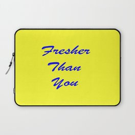 fresher THAN you Yellow & Blue Laptop Sleeve