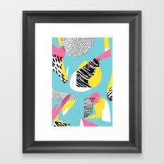 Modern living with lagoon view Framed Art Print