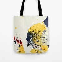 animal crew Tote Bags featuring Animal by Arian Noveir