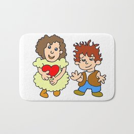 Give me your heart Bath Mat