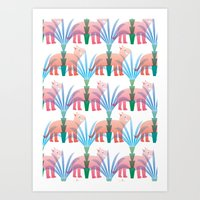 dinosaurs Art Prints featuring Dinosaurs by IsabelStewart