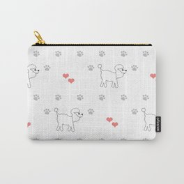 Cute poodle dog surface print Carry-All Pouch