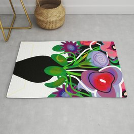 Vase with Flowers Rug