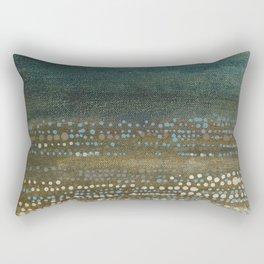 Landscape Dots - Night Rectangular Pillow