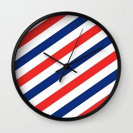 Barber Stripes Wall Clock