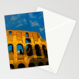 Sunset Over The Roman Colosseum Stationery Cards