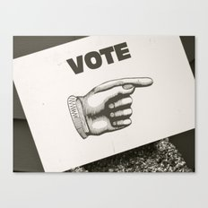 Vote Here Canvas Print