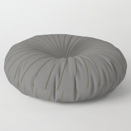 3D Pantone Pewter and Gold Thin Striped Circle Pinwheel Floor Pillow