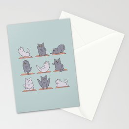 British Shorthair Cat  Yoga Stationery Cards