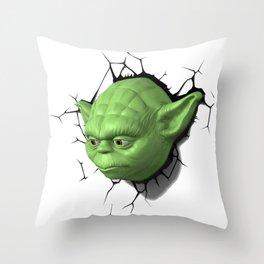 Yoda 02 Throw Pillow