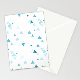 Triangles patterned random small blues Stationery Cards