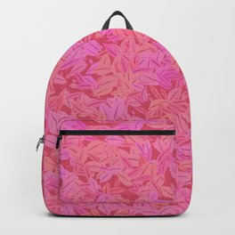 Girly rose pink leaves Backpack