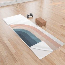 70s Rainbow Yoga Towel