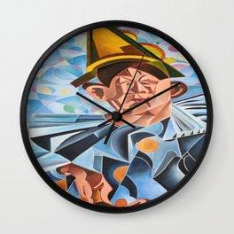Not Clowning But Frowning Wall Clock