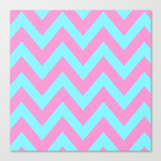 PINK & TEAL CHEVRON  Canvas Print