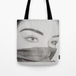 Behind the eyes Tote Bag